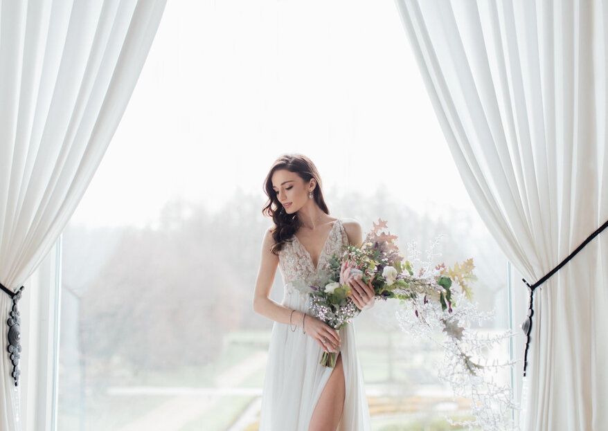 Wiosenne bukiety ślubne i dekoracje sali