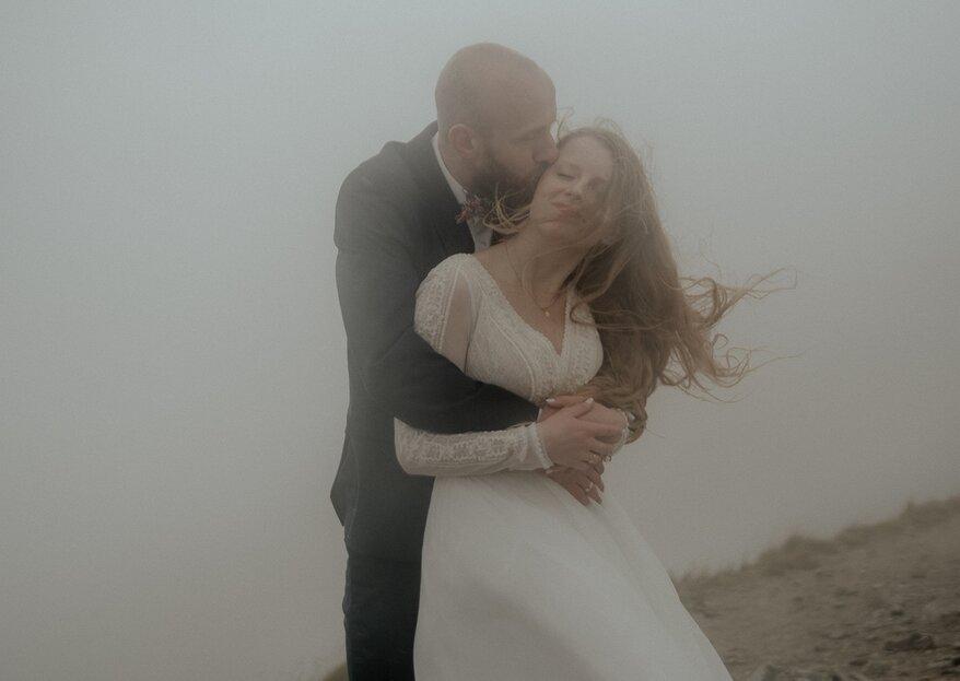 Zakochani w chmurach wśród szczytów gór - Monika i Kuba
