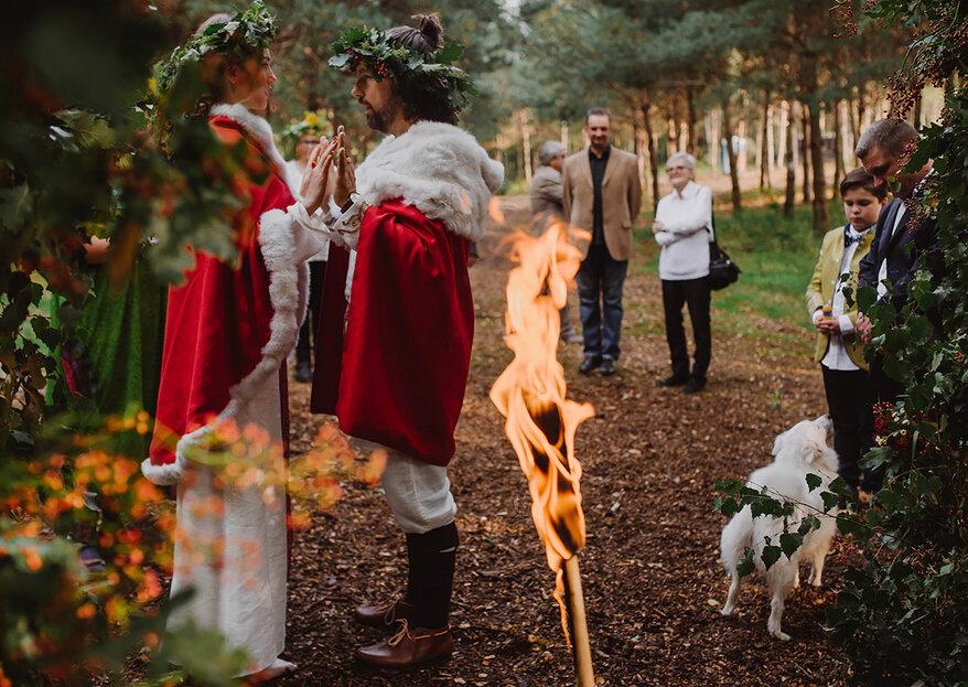 Tradycyjna ceremonia zaślubin w stylu słowiańskim. Fenomenalny reportaż- zapraszamy!