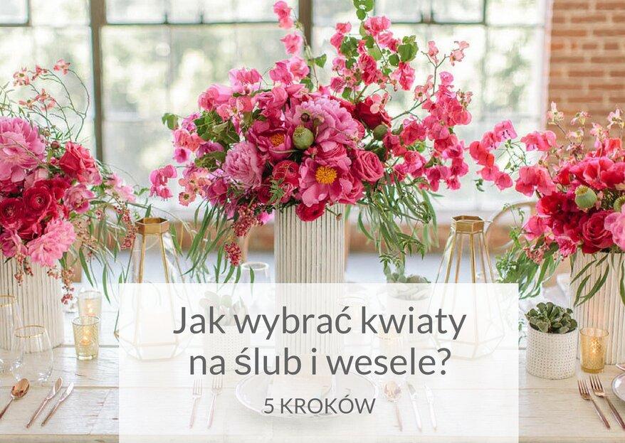 Kwiaty na wesele- jak i jakie kwiaty wybrać? My Ci w tym pomożemy!