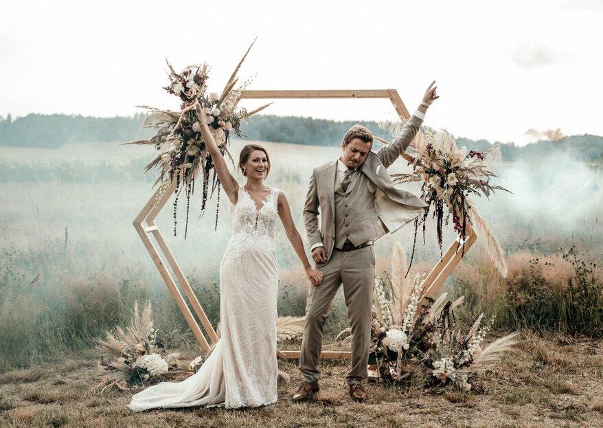 Wesele i ślub w stylu boho – dekoracje i inspiracje