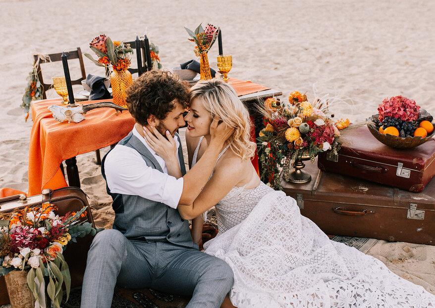 Ślub Boho w wydaniu Wild West