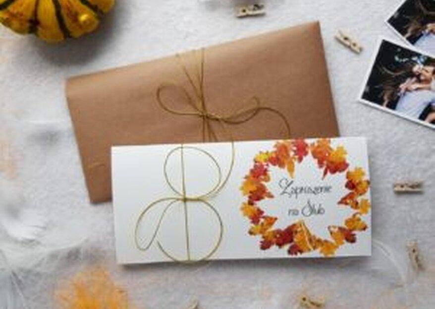Trendy w jesiennych zaproszeniach ślubnych