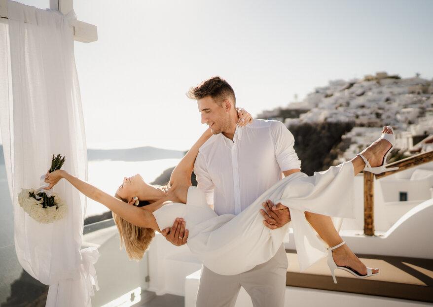 Zjawiskowy ślub na Santorini - Ola i Piotr
