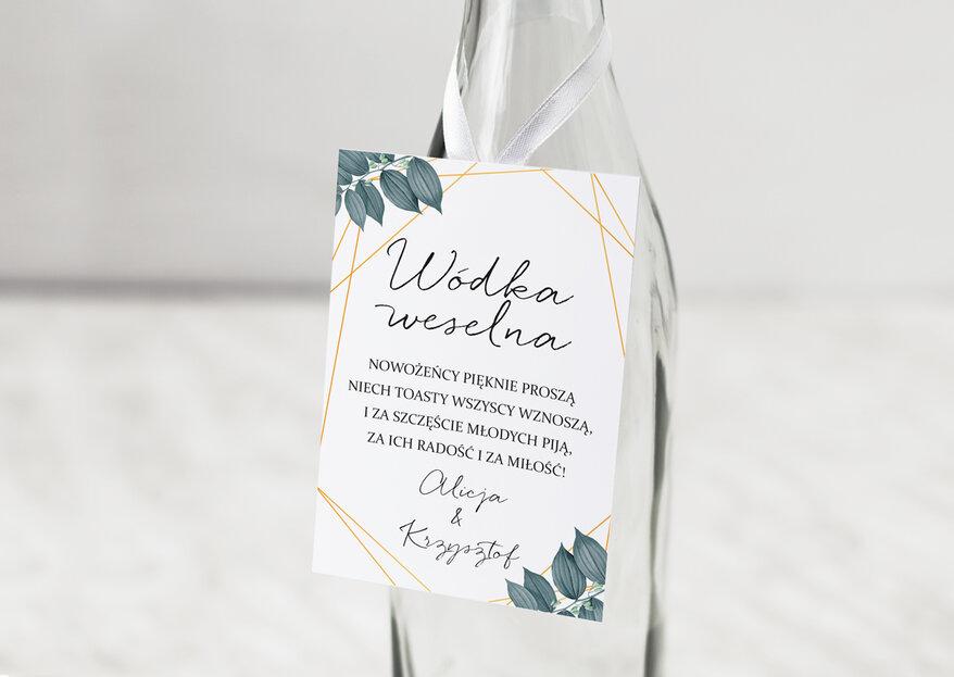 Zawieszki na weselny alkohol