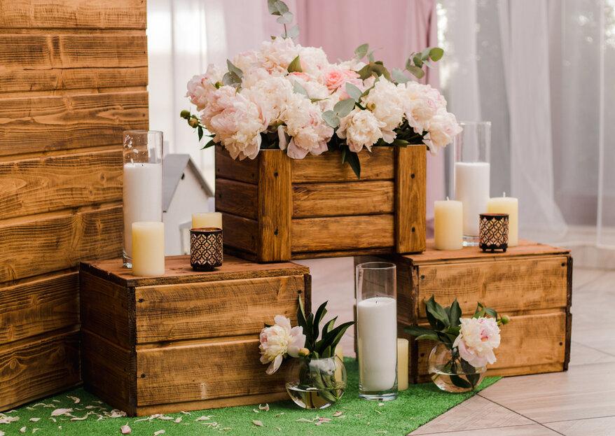 Drewno na ślubie - winietki, dekoracje, lokal, a nawet obrączki!