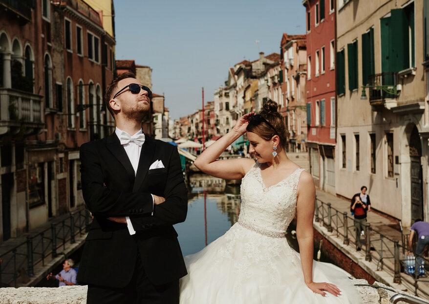Most Rialto, plac św. Marka i wyspa Burano...przepiękna sesja ślubna Marty i Adama.