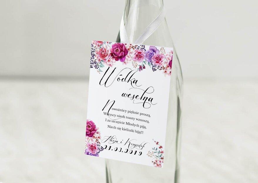 Wierszyki na zawieszki i naklejki na butelki weselne